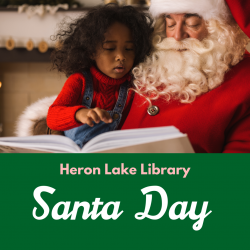 Santa Day at the Heron Lake Library