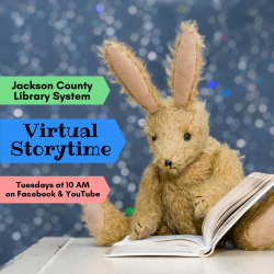 Virtual Storytime Tuesdays at 10 AM on Facebook and YouTube